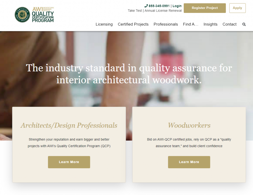 Web copywriting example - AWI-QCP home page